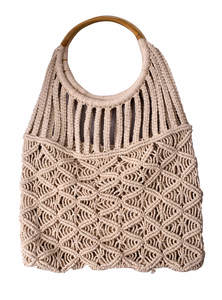 Ladies Jute & Cotton Hand Bag