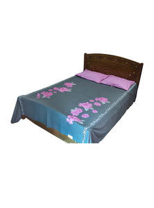Bed Cover, Pillow Cover and Cushion Cover Set (5 Piece Set)