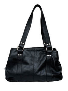 Black Leather Ladies Bag