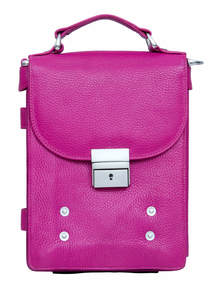 Pink Leather Ladies Russian Bag