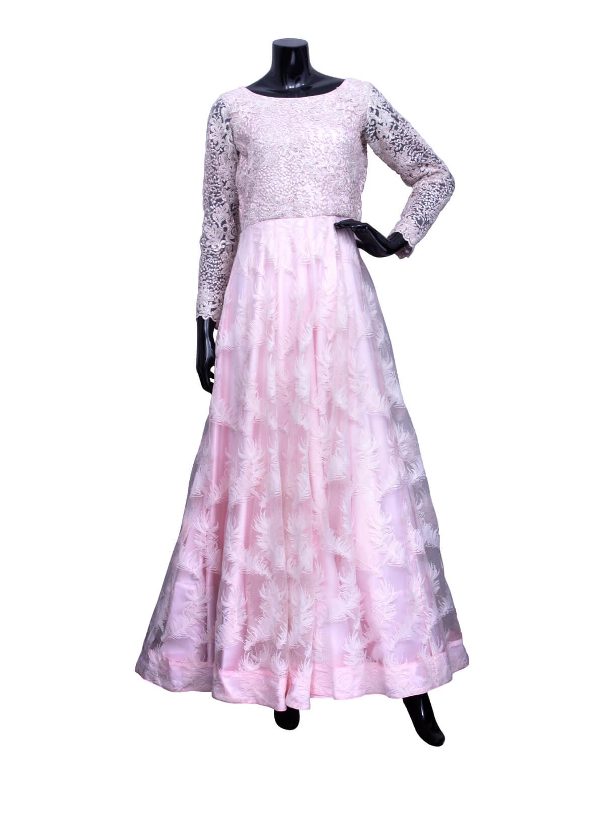Pink Tissue Shartin Net Gown