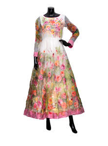 Multi-color Muslin Shartin Gown