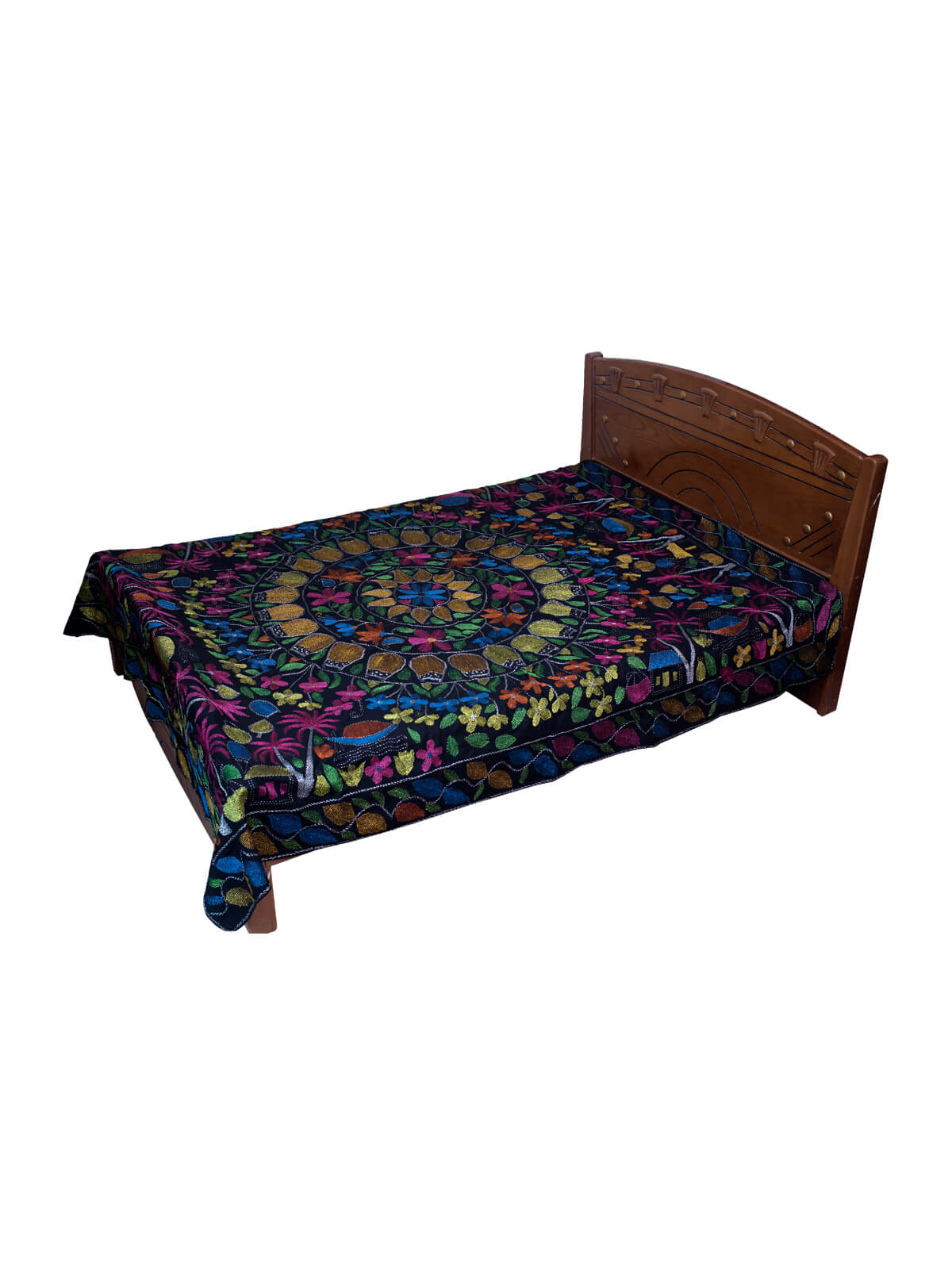 Multi-Color in Black Body Cotton Nakshi Kantha