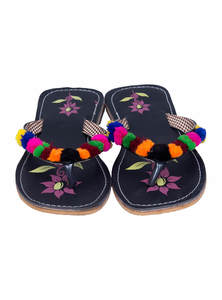 Artificial Leather Sleeper Sandal