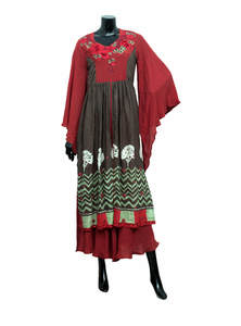 Brown Tosor Gown