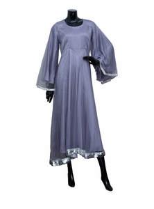 Slate Grey Net Gown