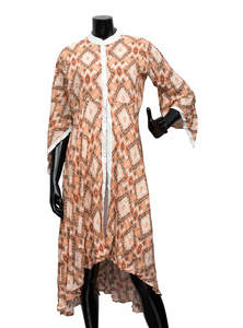 Tumbleweed Brown Cotton Long Gown