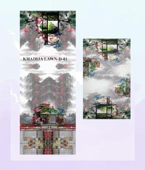 Khadija Lawn D-01