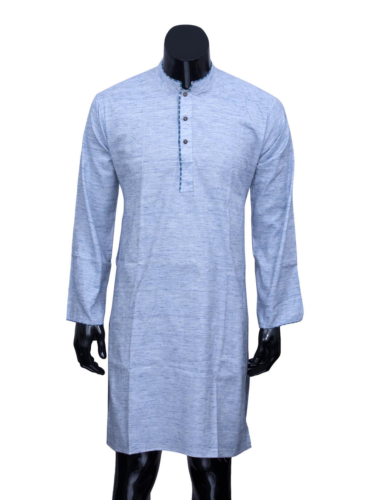 Perano Blue Khadi Panjabi