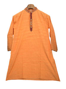 Sunshade Orange Cotton Baby Panjabi