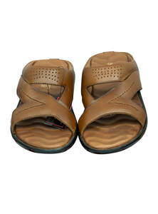 Chocolate Leather Gents Sandal