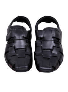 Black Leather Gents Sandal