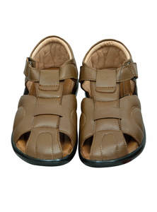 Pale Brown Leather Gents Sandal
