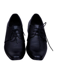 Black Leather Gents Shoes