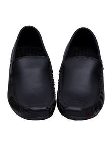 Black Leather Gents Loafer
