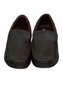Coffee & Black Leather Gents Loafer