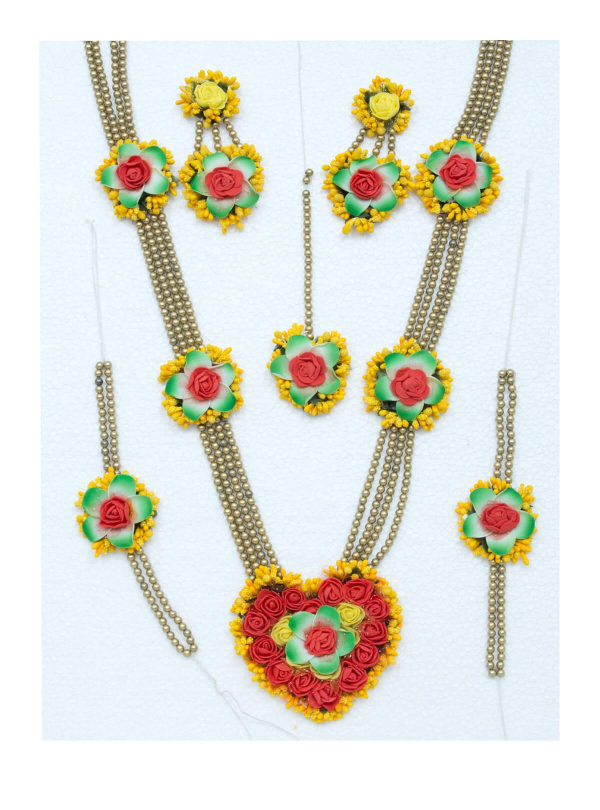 Red and Yellow Love Gaye Holud Mala