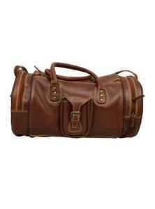 Irish Coffee Brown Leather Travel Bag