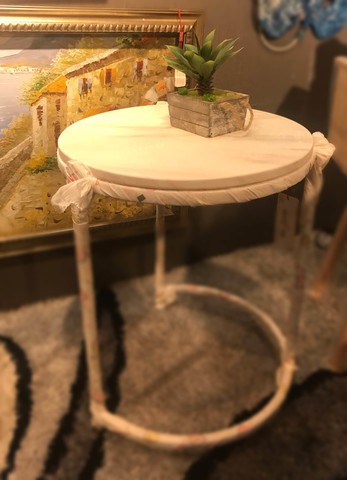 50030/Marble Top Tea Table
