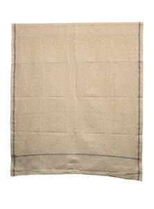 Double Spanish White Yellow Hand Loomed Cotton Gent's Shawl