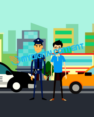 Attorney Drunk Driving 2D Animated Explainer Video