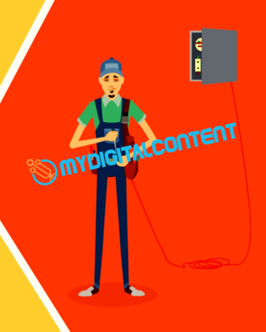 Home Contractor Electrician 2D Animated Explainer Video