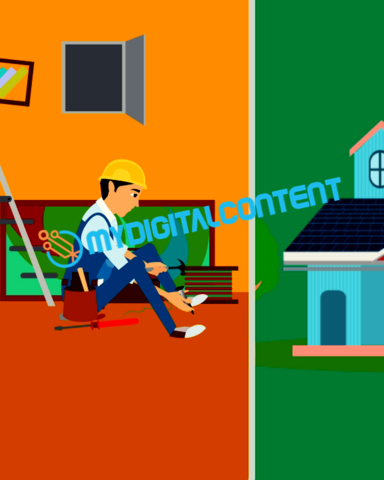 Home Contractor Handyman 2D Animated Explainer Video
