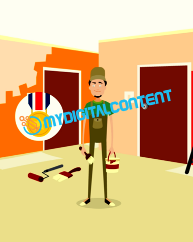 Home Contractor Painter 2D Animated Explainer Video
