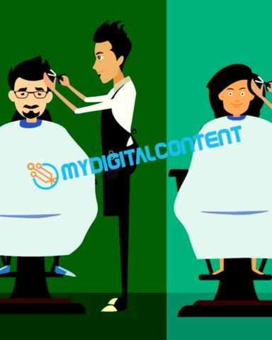 Hair Salon Men's & Women's 2D Animated Explainer Video