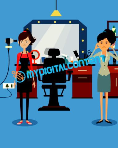 Hair Salon Tanning 2D Animated Explainer Video