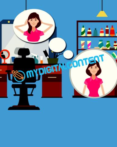 Hair Salon Women's 2D Animated Explainer Video