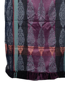 Multicolor Hand Loomed Viscose Shawl Made By Recycled Fabric