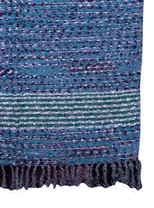 Hand Loomed Ladies Acrylic Shawl Made By Recycled Fabric