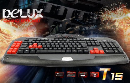 Delux T15 Customized Gaming Keyboard