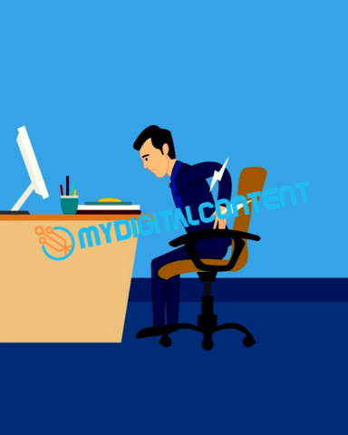 Chiropractor Nagging Backpain 2D Animated Explainer Video