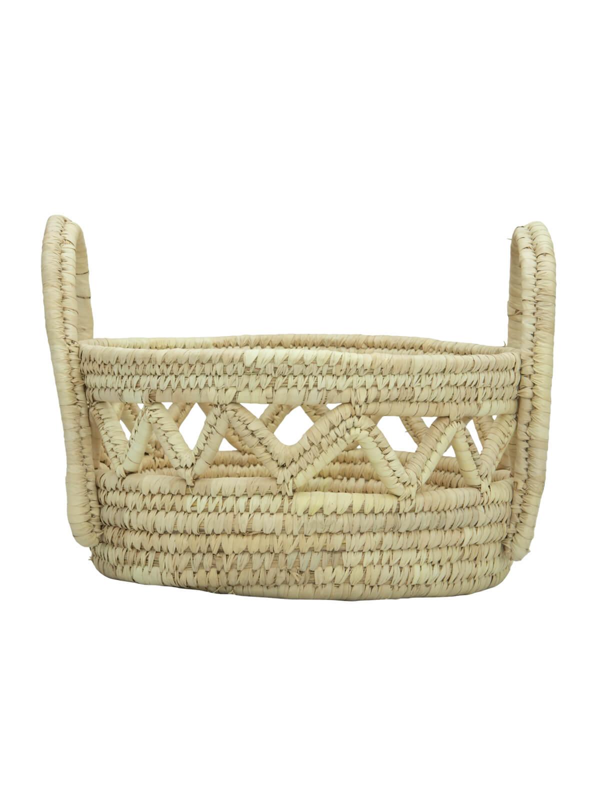 Kans Grass & Date leaf Woven Eco-Friendly Vegetable Basket