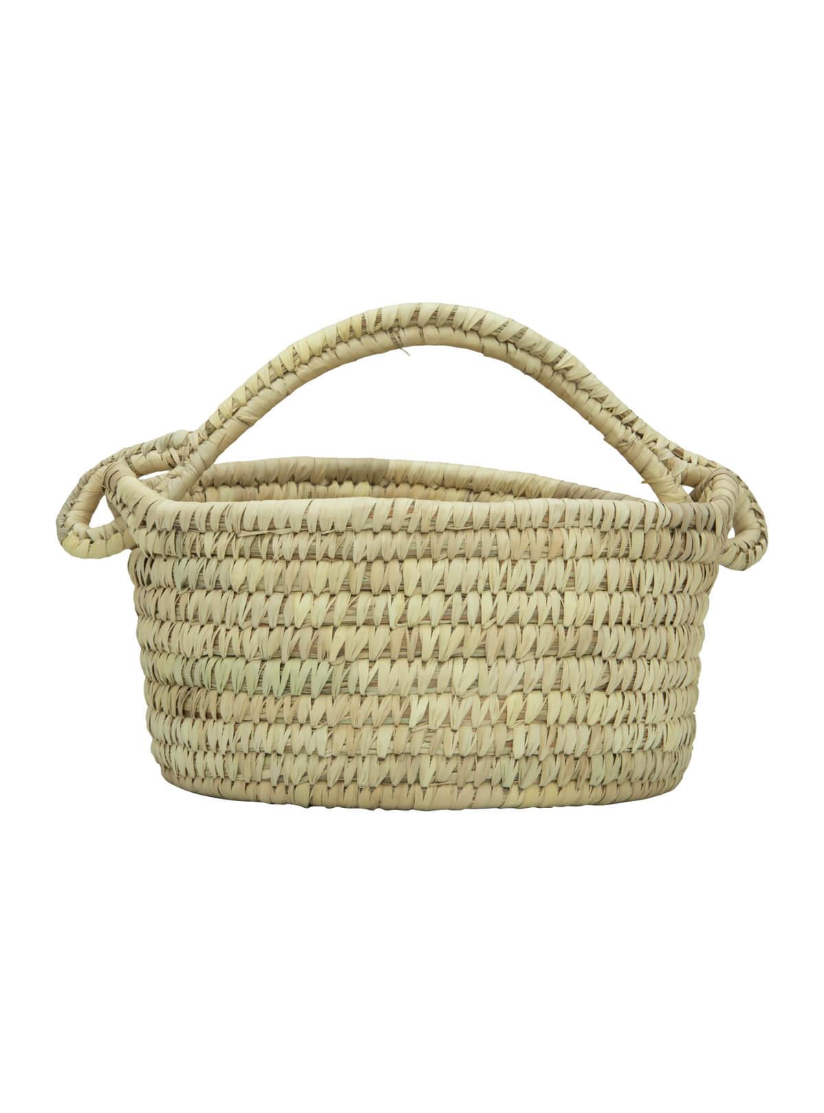 Kans Grass & Date leaf Woven Eco-Friendly Flower Basket