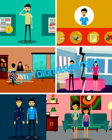 Attorney 2D Animated Explainer Videos Package