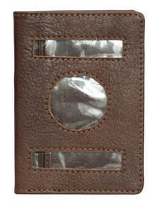 Personalised Plain Leather Passport Cover