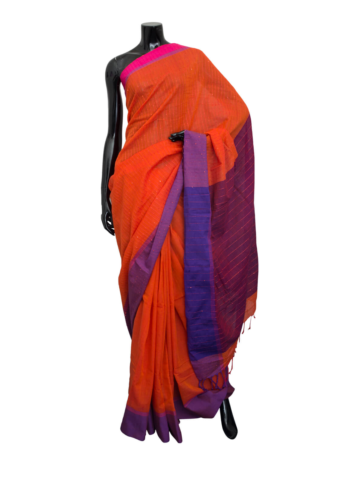 Hand Loomed Fancy Cotton Saree