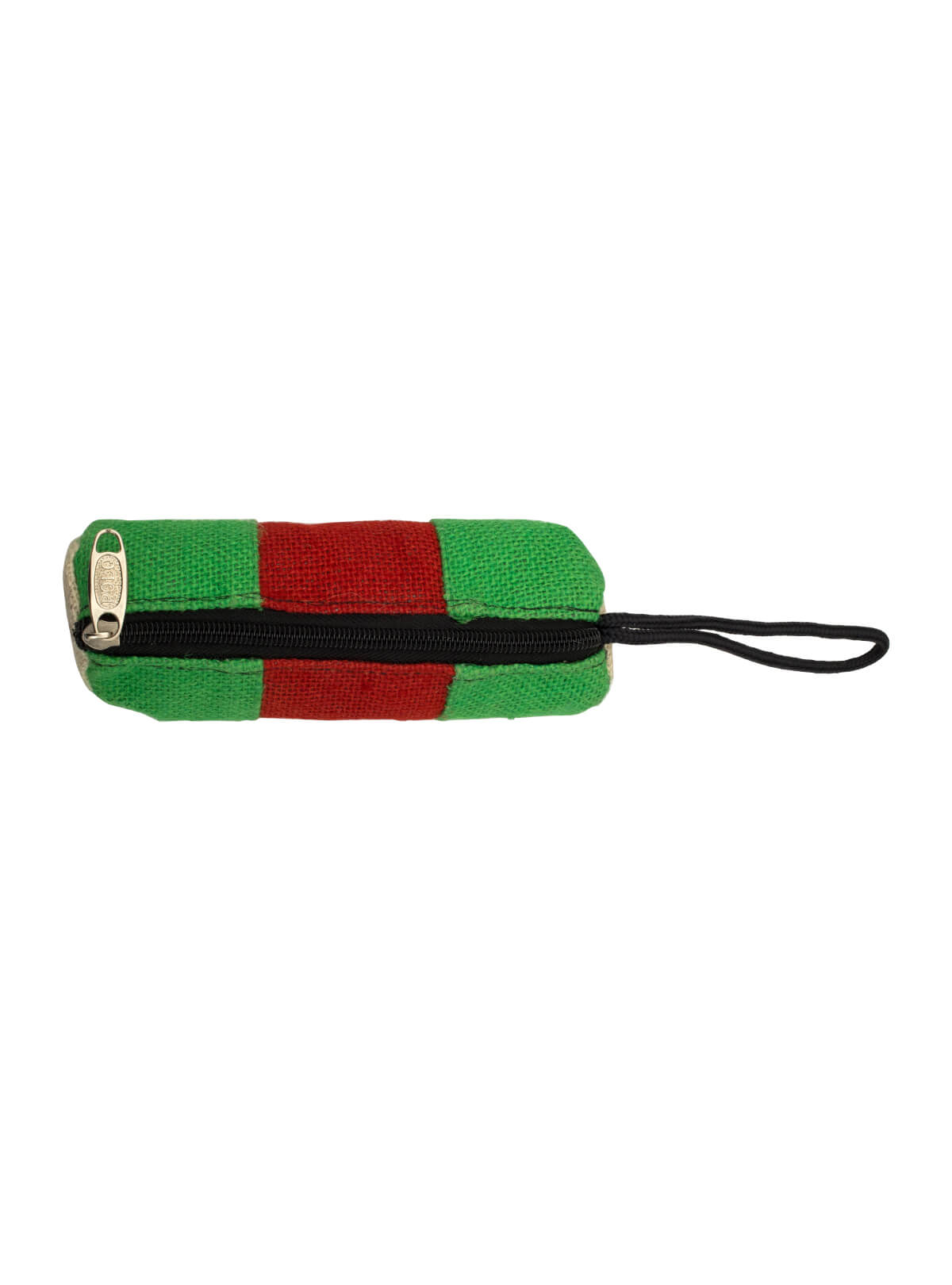 Eco-Friendly Heritage Green Natural Jute Plane Woven Handmade Reusable Cylindrical Pencil Pouch