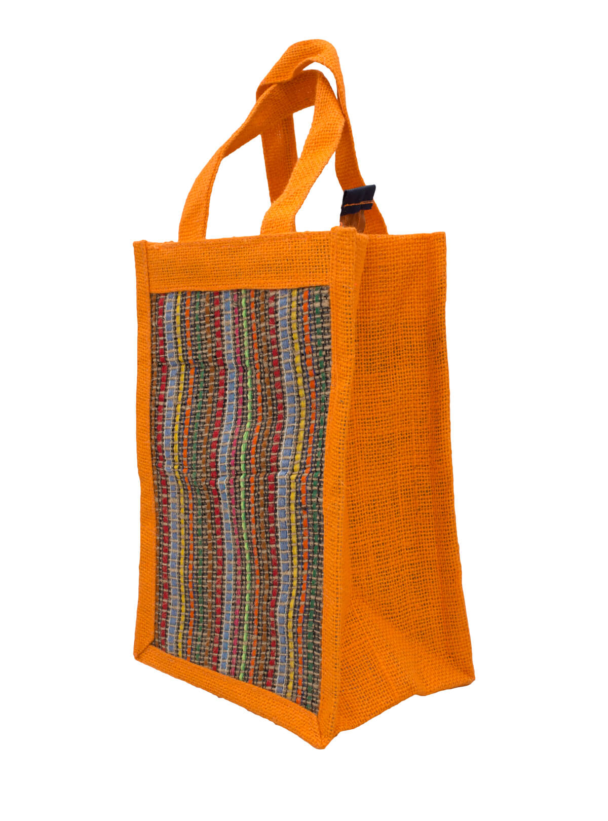 Eco-Friendly Heritage Green Natural Jute Plane Woven Handmade Reusable Lunch Bag