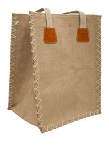 Eco-Friendly Heritage Green Natural Jute Plane Woven Handmade Reusable Lunch Bag