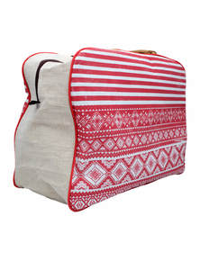 Eco-Friendly Heritage Green Natural Jute Plane Woven Reusable Travel Bag