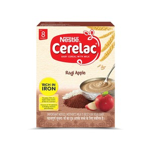 Nestlé CERELAC Fortified Baby Cereal with Milk, Ragi Apple