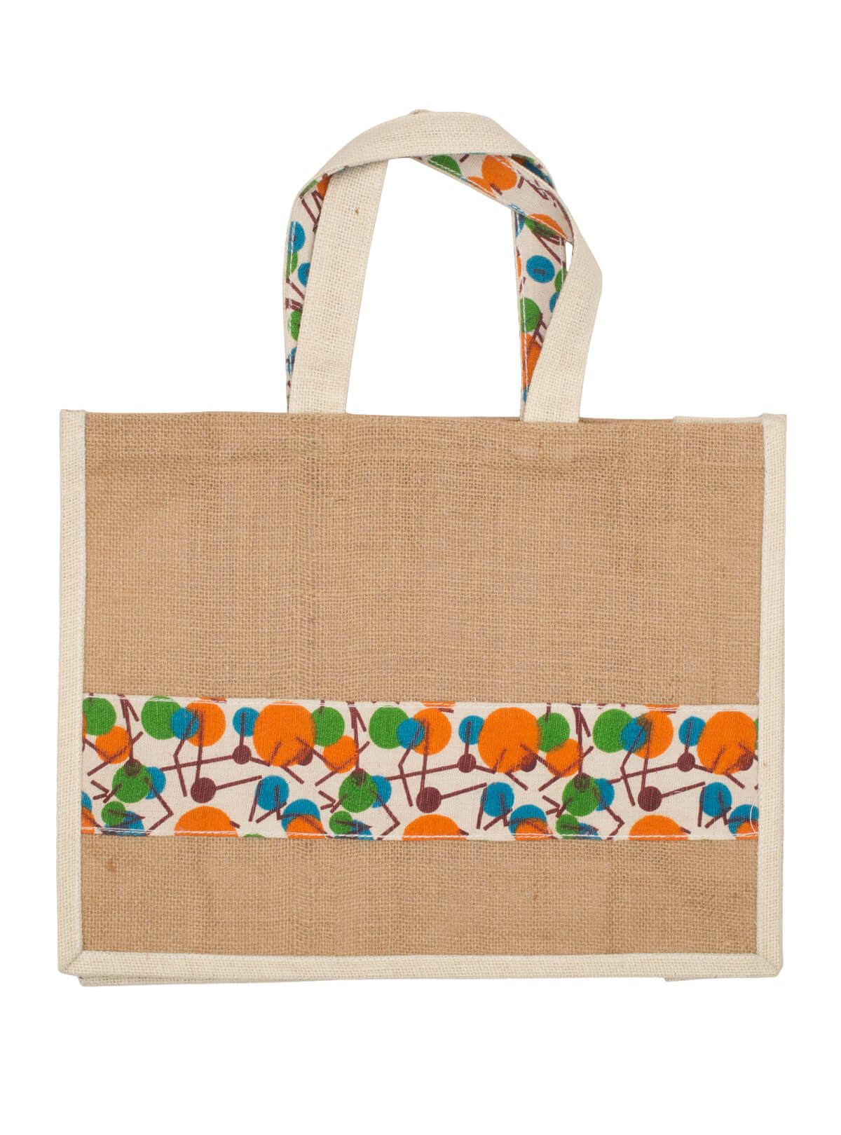 Eco-Friendly Heritage Green Natural Jute Plane Woven Reusable Carry  Bag