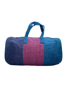 Eco-Friendly Heritage Green Natural Jute Plane Woven Handmade Reusable Travel Sports Duffel Gym Bag