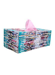 Recycled Handmade Paper Tissue Box