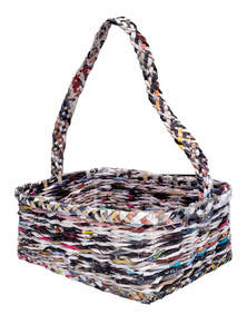 Eco-Friendly and Recycled Handmade Paper Fruit Basket
