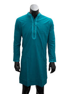 Eastern Blue Gents Cotton Panjabi